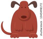 cartoon illustration of cute... | Shutterstock .eps vector #1345498172