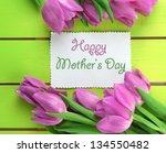 beautiful bouquet of purple... | Shutterstock . vector #134550482