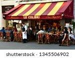 paris  france   april 2 2017  ... | Shutterstock . vector #1345506902
