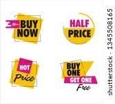 sale discount icons   Shutterstock .eps vector #1345508165