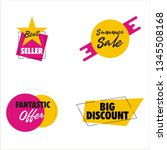sale discount icons   Shutterstock .eps vector #1345508168