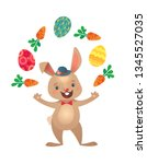 happy easter greeting card with ... | Shutterstock .eps vector #1345527035