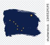 flag of alaska from brush...