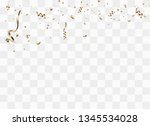 golden confetti isolated on... | Shutterstock .eps vector #1345534028