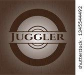 juggler wooden signboards   Shutterstock .eps vector #1345544492