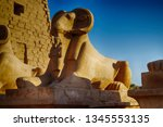 great hypostyle hall and clouds ... | Shutterstock . vector #1345553135