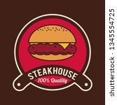 steakhouse bbq poster | Shutterstock .eps vector #1345554725