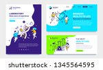 vector set of template with... | Shutterstock .eps vector #1345564595