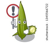 with sign luffa in a the mascot ...   Shutterstock .eps vector #1345566722