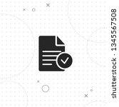 document  vector best flat icon ... | Shutterstock .eps vector #1345567508