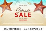 summer sale design background.... | Shutterstock .eps vector #1345590575
