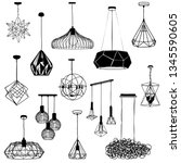 Set  A Hanging Chandelier In...