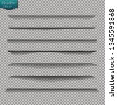 page divider with transparent... | Shutterstock .eps vector #1345591868