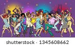 party at the club  dancing... | Shutterstock .eps vector #1345608662