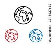 world planet icon | Shutterstock .eps vector #1345627682