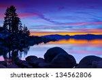 Lake Tahoe Sunset With Granite...