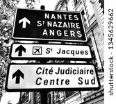 traffic signs to the cities... | Shutterstock . vector #1345629662