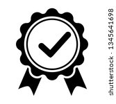 award vector icon  badge with...   Shutterstock .eps vector #1345641698
