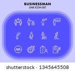 businessman line icon set....   Shutterstock .eps vector #1345645508
