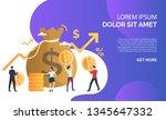 capital increasing purple... | Shutterstock .eps vector #1345647332