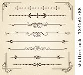 vintage frames and scroll... | Shutterstock .eps vector #134565788