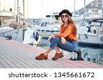 young beautiful happy girl... | Shutterstock . vector #1345661672