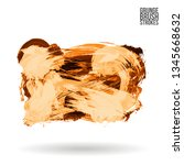 orange brush stroke and texture.... | Shutterstock .eps vector #1345668632