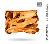 orange brush stroke and texture.... | Shutterstock .eps vector #1345668638