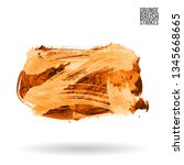 orange brush stroke and texture.... | Shutterstock .eps vector #1345668665