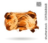 orange brush stroke and texture.... | Shutterstock .eps vector #1345668668
