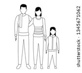 family avatars cartoon... | Shutterstock .eps vector #1345671062