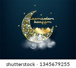 ramadan kareem background.... | Shutterstock .eps vector #1345679255