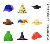 vector design of headgear and... | Shutterstock .eps vector #1345681175