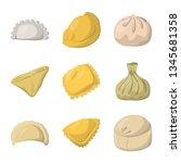 isolated object of dumplings...   Shutterstock .eps vector #1345681358