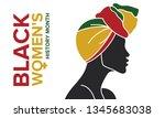 black women's history month... | Shutterstock .eps vector #1345683038