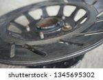 motorcycle wheel alloy | Shutterstock . vector #1345695302