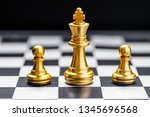 queen  chess board game for... | Shutterstock . vector #1345696568