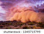 Haboob dust storm in the...