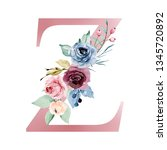 Floral Alphabet  Letter Z With...