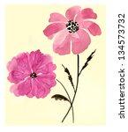 watercolor flowers | Shutterstock . vector #134573732