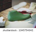 workplace of shoe designer  ... | Shutterstock . vector #1345754342