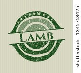 green lamb distressed rubber... | Shutterstock .eps vector #1345758425