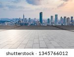 panoramic skyline and modern... | Shutterstock . vector #1345766012
