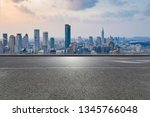 panoramic skyline and modern... | Shutterstock . vector #1345766048