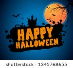 happy halloween vector... | Shutterstock .eps vector #1345768655