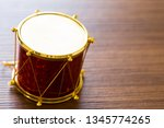 little colorful toy drums... | Shutterstock . vector #1345774265