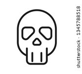 skull icon. stroke outline... | Shutterstock .eps vector #1345788518