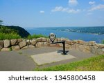 A scenic overlook at State Line Lookout in Palisades Interstate Park, New Jersey