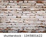 old brick wall texture...   Shutterstock . vector #1345801622