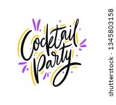 cocktail party hand drawn... | Shutterstock .eps vector #1345803158